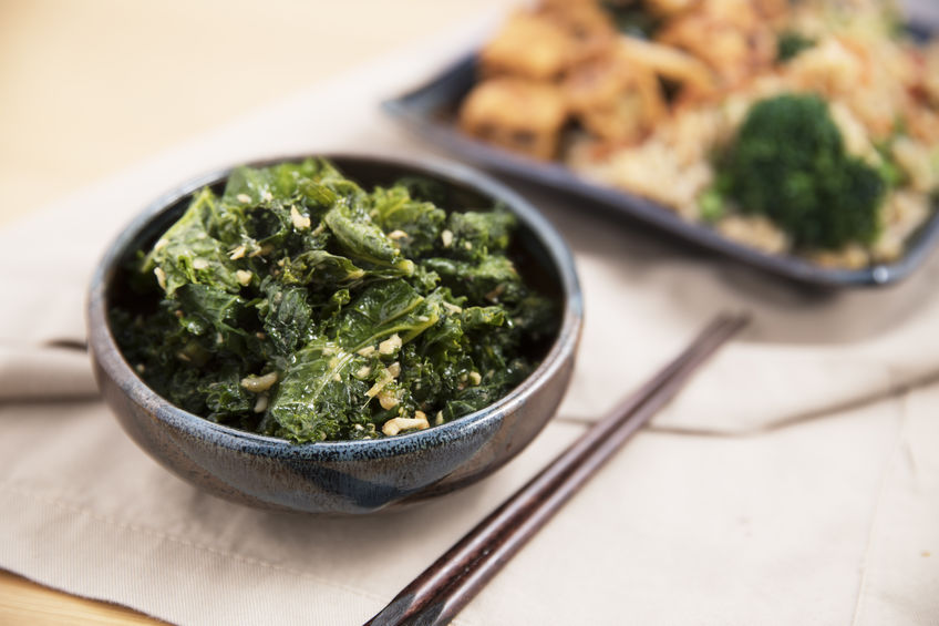 Cozy up to warm kale recipes this winter: creamy kale potato soup, kale and asiago dip, and warm kale salad.